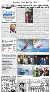Elk Grove Citizen Article, 11/14/2014, on Pro Slalom Water Skier Brian Detrick